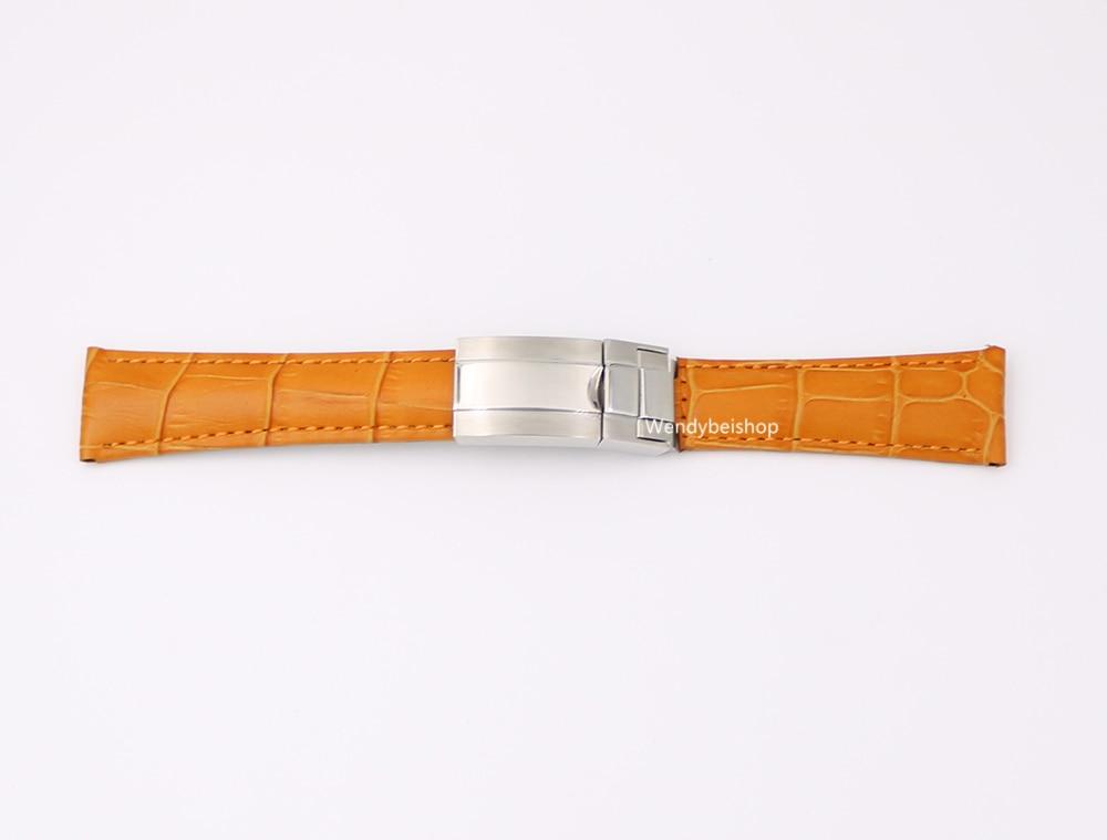 CARLYWET 20mm äkta kalvskinnskinn VINTAGE Lyxig armbandsur - Tillbehör klockor - Foto 3