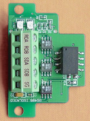 FX2N-485-BD+:optoelectronic isolated RS485 communication Board for FX2N PLC,largest communication up to 2 KM,freeshipping