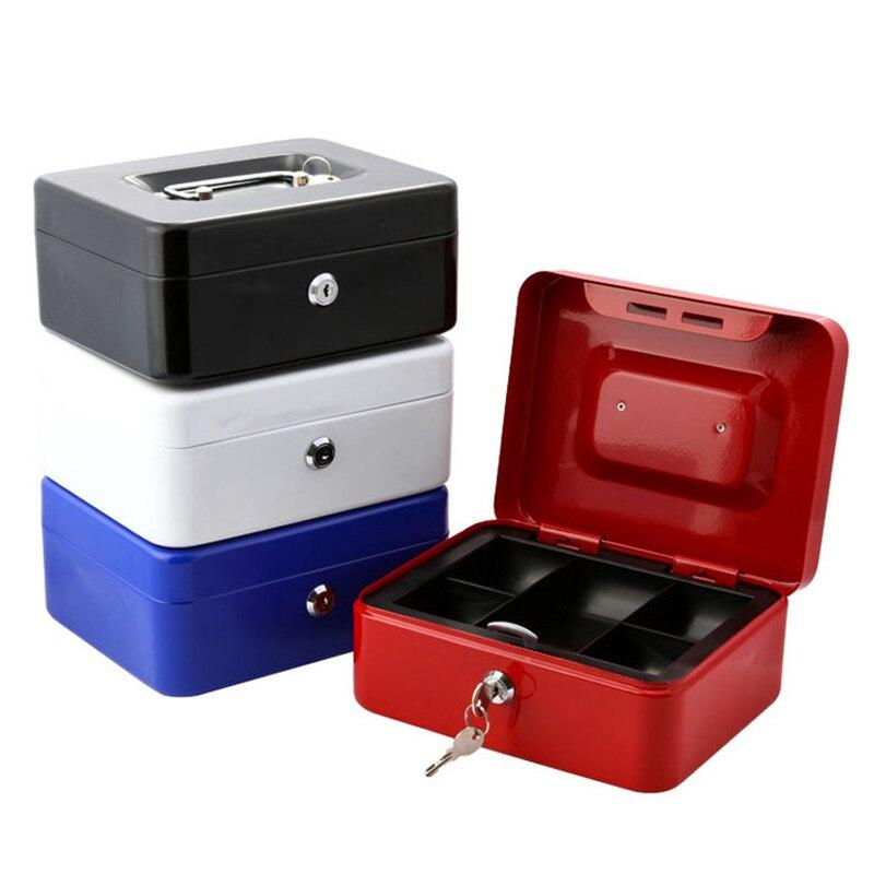 imágenes para Ne Mini Portátil caja de Almacenamiento caja de Seguridad Caja de Dinero Caja de Colección Para El Hogar Oficina de La Escuela Con Bandeja del Compartimiento LockableXS