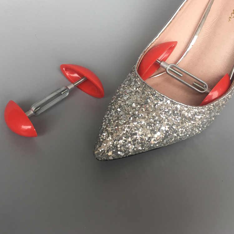 2 ADET kaliteli Taşınabilir Mini ABS Alüminyum Ayakkabı Sedyeler Genişliği Genişletici Ayarlanabilir Ayakkabı Yardım Erkekler Kadınlar Ayakkabı Ağaçları