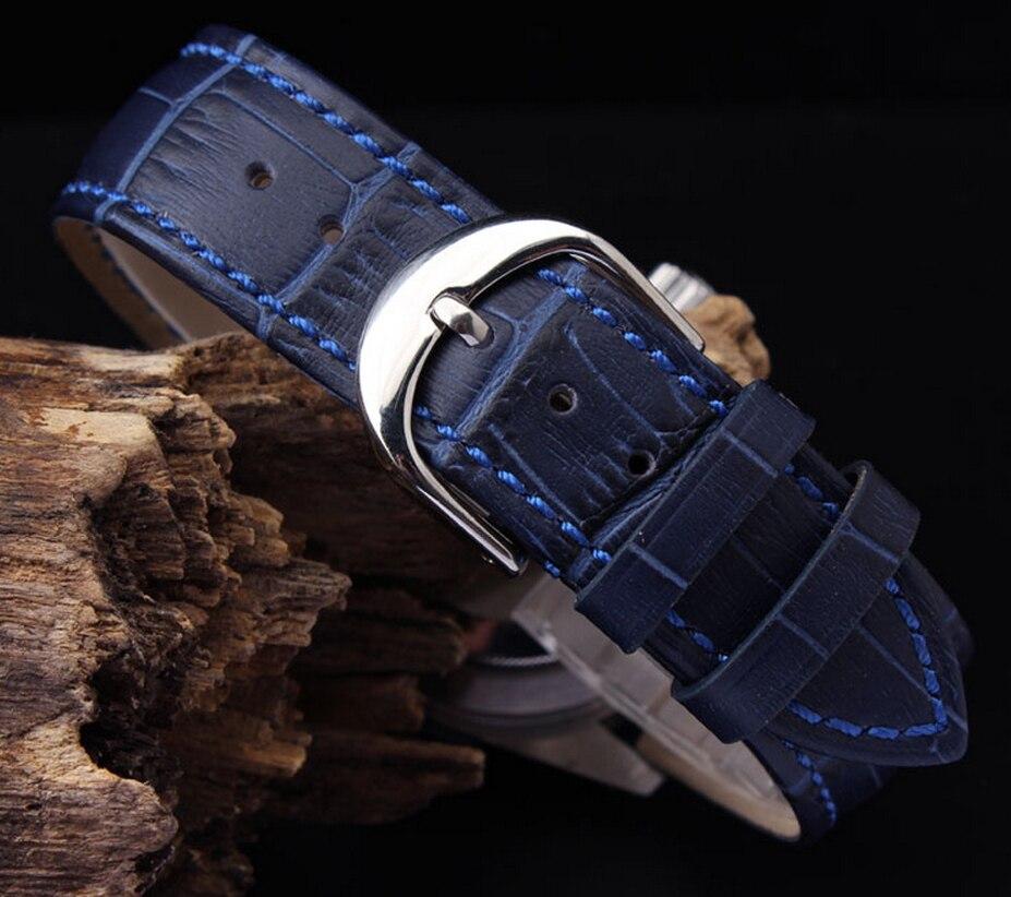 Urbånd 12mm 14mm 16mm 18mm 20mm 22mm Herre Dame Mørkeblå 100% - Tilbehør til ure - Foto 3