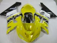 Aftermarket body parts fairing kit for Kawasaki ninja ZX6R 05 06 yellow white black fairings set ZX6R 2005 2006 HN26