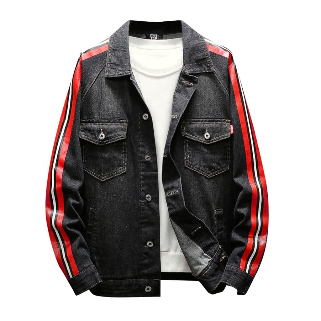2019 New Jackets   Parka   Men Autumn Winter Patchwork Vintage Wash Distressed Denim Jacket Coat Top Casual Windbreak Jackets Men