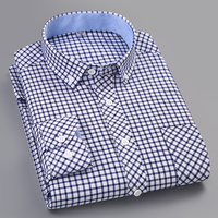 Liseaven Men's Plaid Shirt Checked Oxford Button down Shirt Casual Classic Long Sleeve Dress Shirt