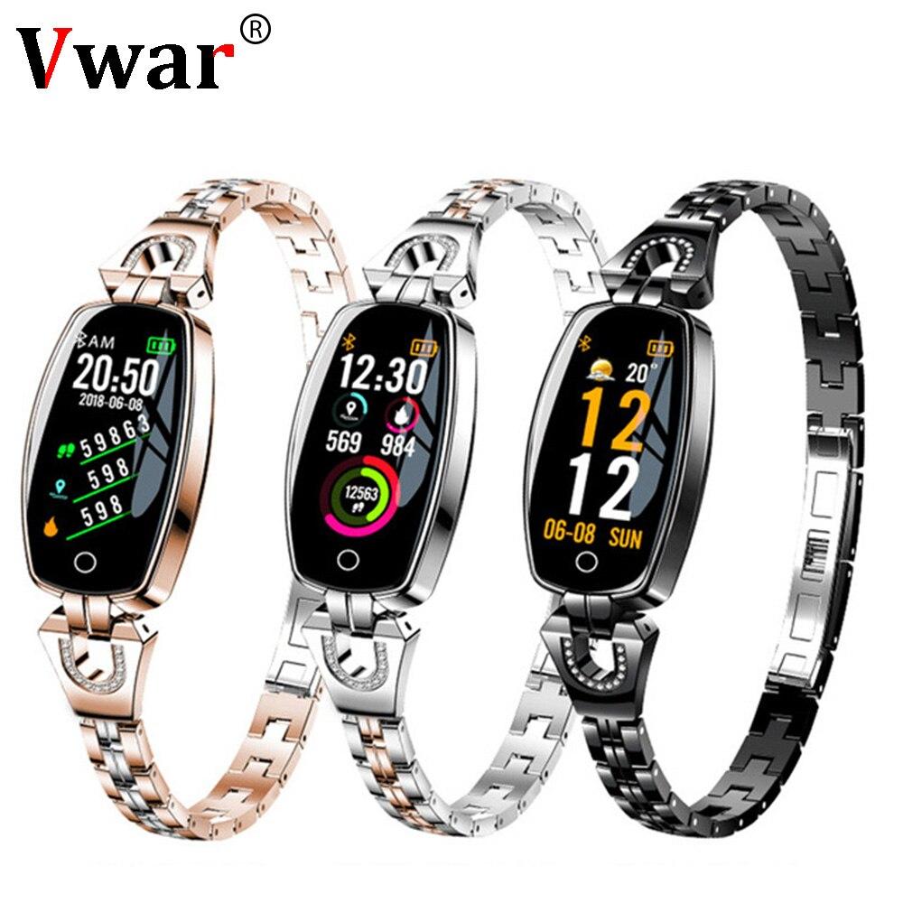 Роскошный умный браслет для женщин Спорт фитнес-трекер Браслет пульсометр умный браслет лучший подарок для девочки Xiaomi iphone