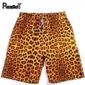 2016 fashion summer quick dry thin leopard print beach shorts Men's casual workout shorts