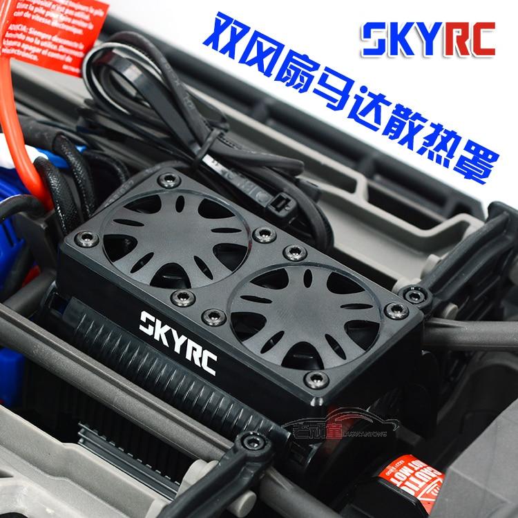 SKYRC 2 fans motor cooling radiator box 5v receiver for 55mm 1/5 rc car motor Traxxas X-Maxx 2pcs traxxas original 1 5 x maxx tires wheels tire tyre for 1 5 traxxas x maxx rc monster truck model 7772