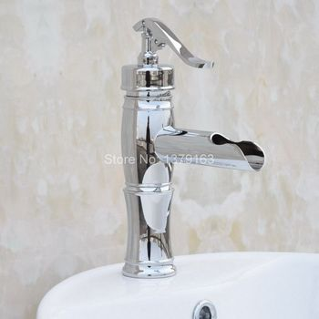 "NEW ""Water Pump Look"" Style Polished Chrome Single Hole / Handle Bathroom Vessel Basin Sink Faucet Hot Cold Mixer Tap acy021"