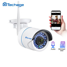 Techage 1080P 2MP Nirkabel Kamera Keamanan Audio Wifi Ip Kamera IR Outdoor Tahan Air P2P ONVIF TF Kartu Video CCTV pengawasan(China)
