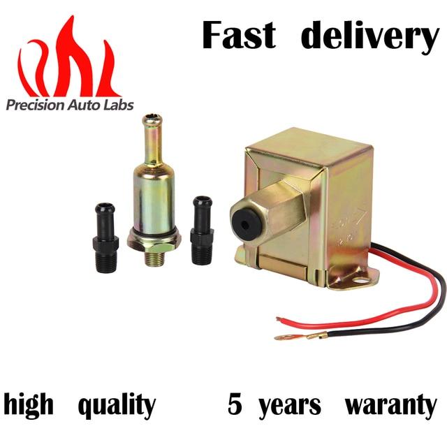 Precision Auto Labs New 12v Heavy Duty Low Pressure Universal Electric Fuel Pump Sel 4 6 Psi