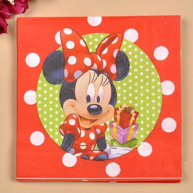 Mickey Mouse Style Napkins