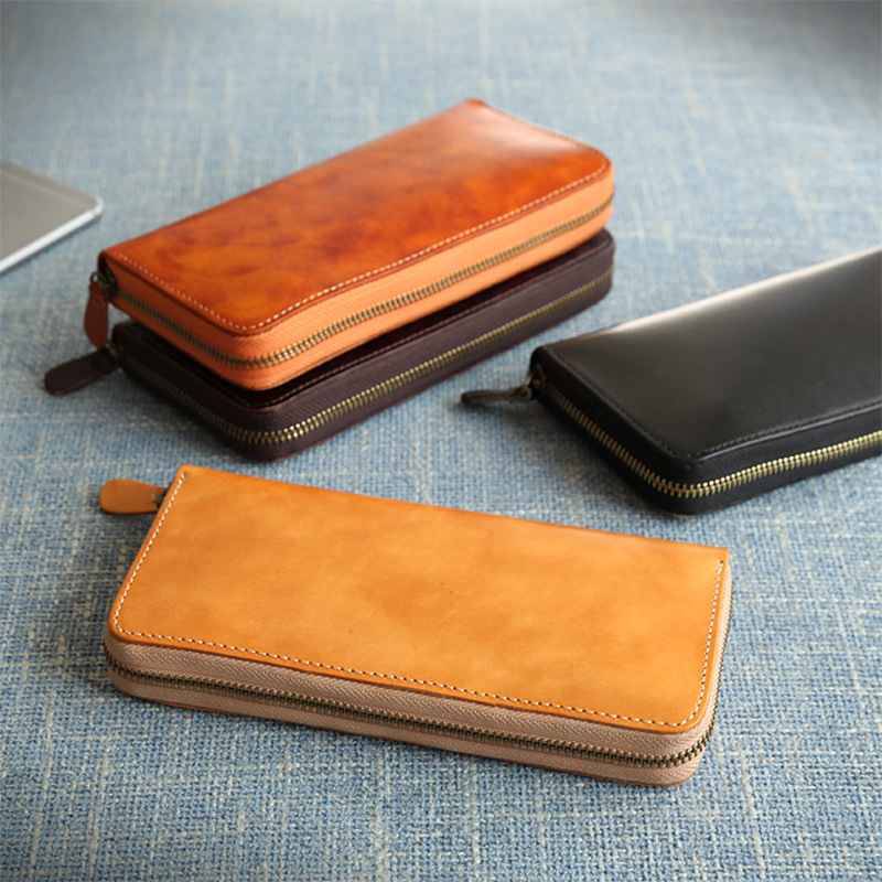 Man Business Cow Leather Wallets Black Bag Purses Men Long Clutch Genuine Leather Wallet Card Holder vegetable Tanned Leather men clutch bag italian vegetable tanned leather long wallet luxury phone wallets wristlet male purse man clutch hand bag purses