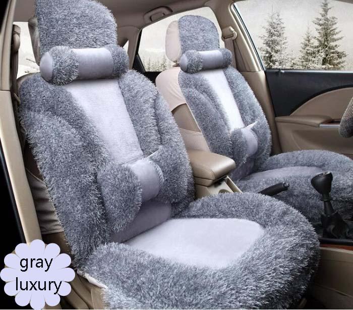Авто сиденья полные комплекты Универсальный Fit 5 сиденье внедорожник седанов спереди/на заднем сиденье коврики автомобильные коротким мехо...