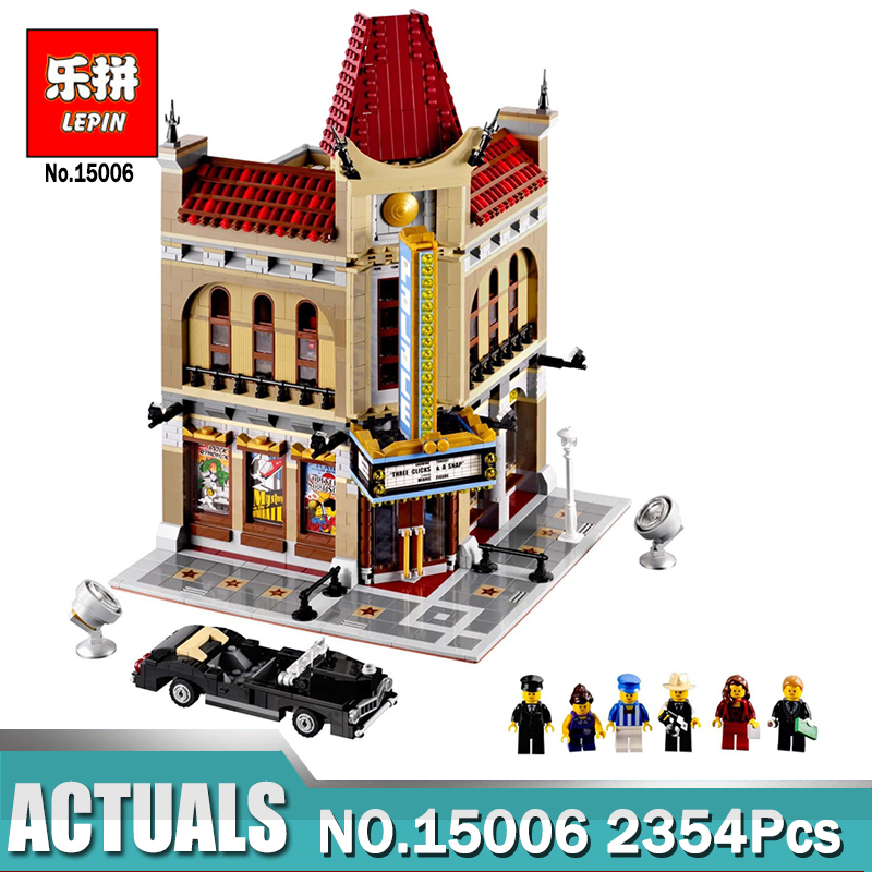 LEPIN 15006 2354pcs Palace Cinema Model Building Blocks Set Bricks Toys Compatible Legoing 10232 Toys For Children city street series 15006 2354pcs palace cinema building blocks creator compatible legoing 10232 bricks toys gifts for children