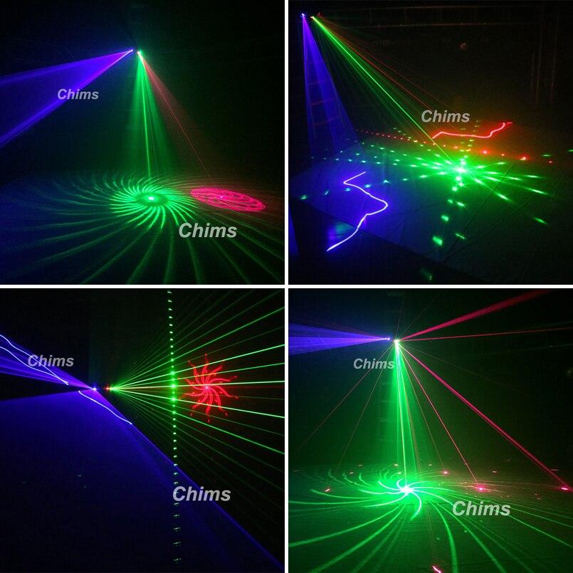 Chims DMX 4 объектива RGB Красный Зеленый Синий луч узор сеть Лазерный Свет домашний Профессиональный DJ шоу KTV Сканнер клуб сценическое освещение ... - 4
