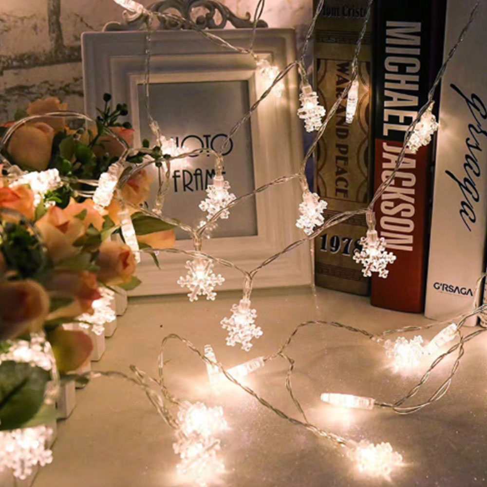 Considerate 3m/6m/10m Battery Powered Snow Flakes Led String Fairy Light Xmas Tree Party Home Wedding Garden Garland Christmas Decor My Good Reputation Over The World Led String Lights & Lighting
