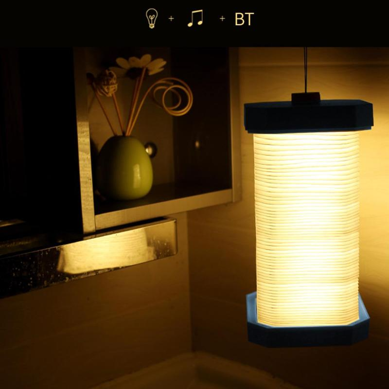 LED USB Telescopic Bluetooth Speaker table lamp LED Desk Light Foldable Book Lamp Design USB Rechargeable Wooden Night Light icoco usb rechargeable led magnetic foldable wooden book lamp night light desk lamp for christmas gift home decor s m l size