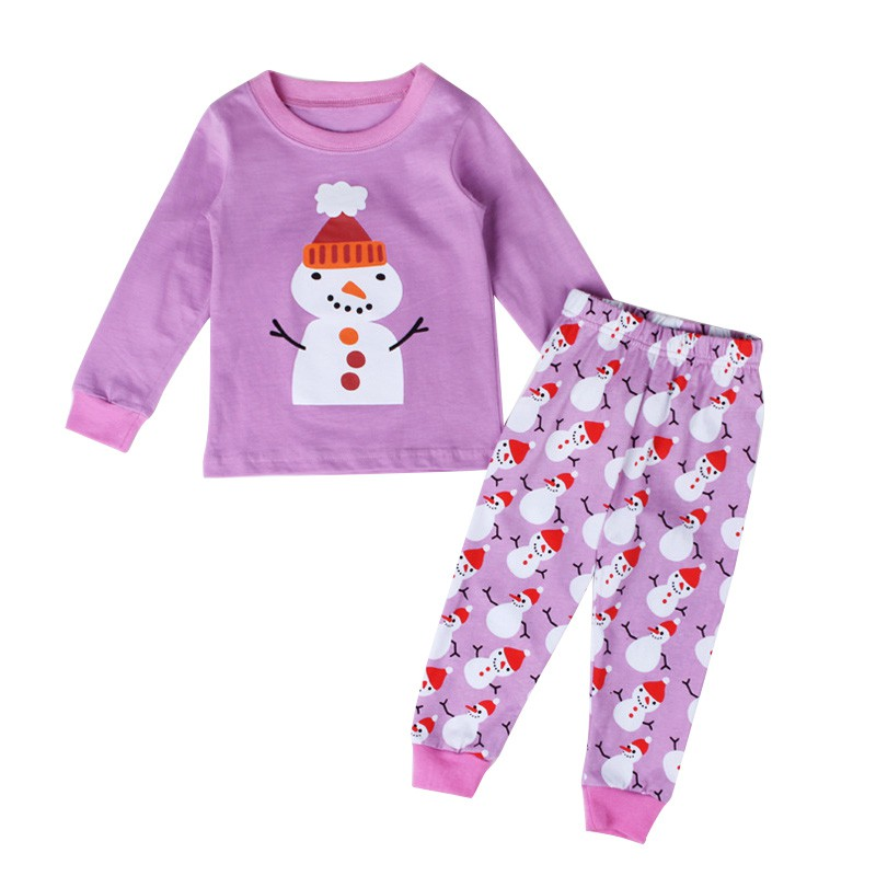 New Christmas Children Pajamas Nightwear Set Baby Girls Santa Snow Xmas Sleepwear Home Clothes For 2-7 Years Child L08 ...