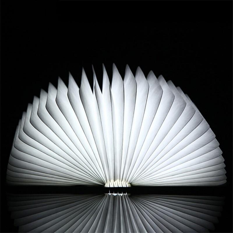 Fashion 4.5W Wooden Folding LED Nightlight Booklight LED Folding usb book light,Art reading lamp rechargeable light book  (3)