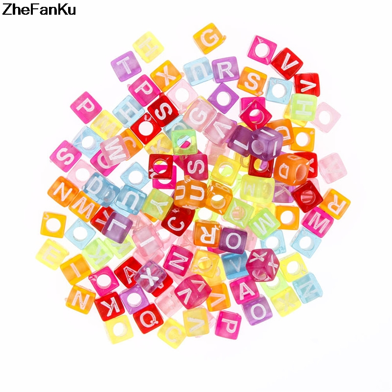 Wholesale 100pcs Mix Colors Acrylic Round English Alphabet Letter Digital Beads Charms Bracelet Necklace For Jewelry Making Diy New Varieties Are Introduced One After Another Home & Garden