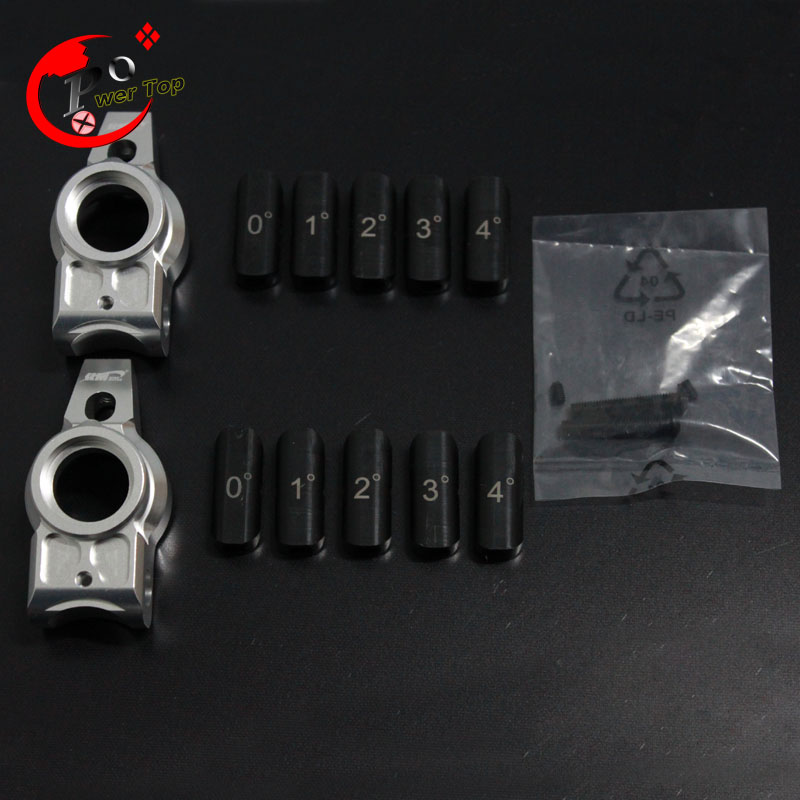 King Motor Alloy upgrade rear hub carrier(5degree corner)set for Baja T1000GT Parts RC Cars area rc rear hub carrier for losi 5t 5ive t