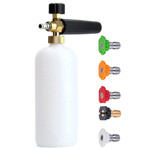 """Image 1 - 1/4"""" Quick Release Foam Gun Snow Foam Lance Professional Foam Generator Car Washer 5 Pressure Washer Nozzles for Cleaning"""