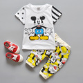 Baby Clothing 2 Pieces/ Set  Short Sleeve Top+ Short pant Fashion Baby Boy And Girl Clothing set For Summer With Cartoon Design