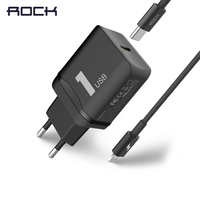 ROCK PD Fast Charger Set For IPhone X 8 Plus Type C Quick Wall Mobile Charger