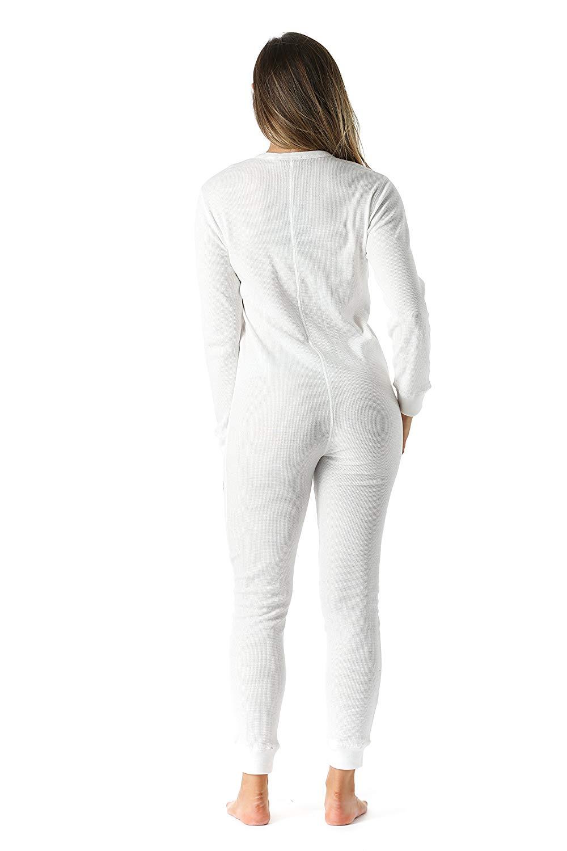 Women s Thermal Henley Onesie Union Suit camouflage pants women