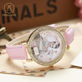 Miss Keke Girls Kids Quartz Watches Diamond 3D Clay Audrey Hepburn Dresser Cartoon Watch Children Pink Clock 1816 montre enfant