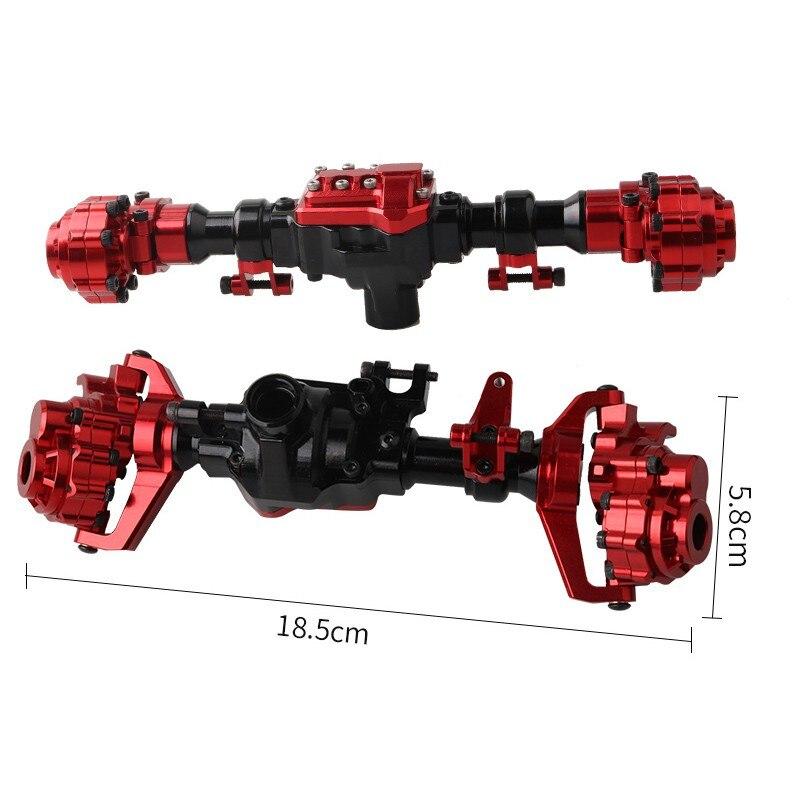 TRX4 en aluminium avant et arrière porte essieu boîtier Shell pour 1/10 RC chenille voiture Traxxas TRX-4 essieux mise à niveau pièces