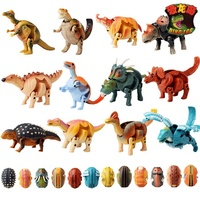 12 pcs /setPuzzle deformation dinosaur eggs twisted swollen dragon special triangular dragon toys