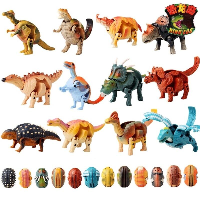 12 pièces/setPuzzle déformation dinosaure oeufs torsadé gonflé dragon spécial triangulaire dragon jouets
