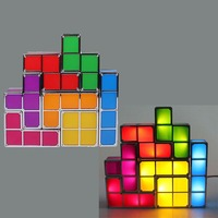 New Peculiar Tetris Game Shape Style Stackable LED Light Novelty DIY Constructible Retro Various Assemble DIY