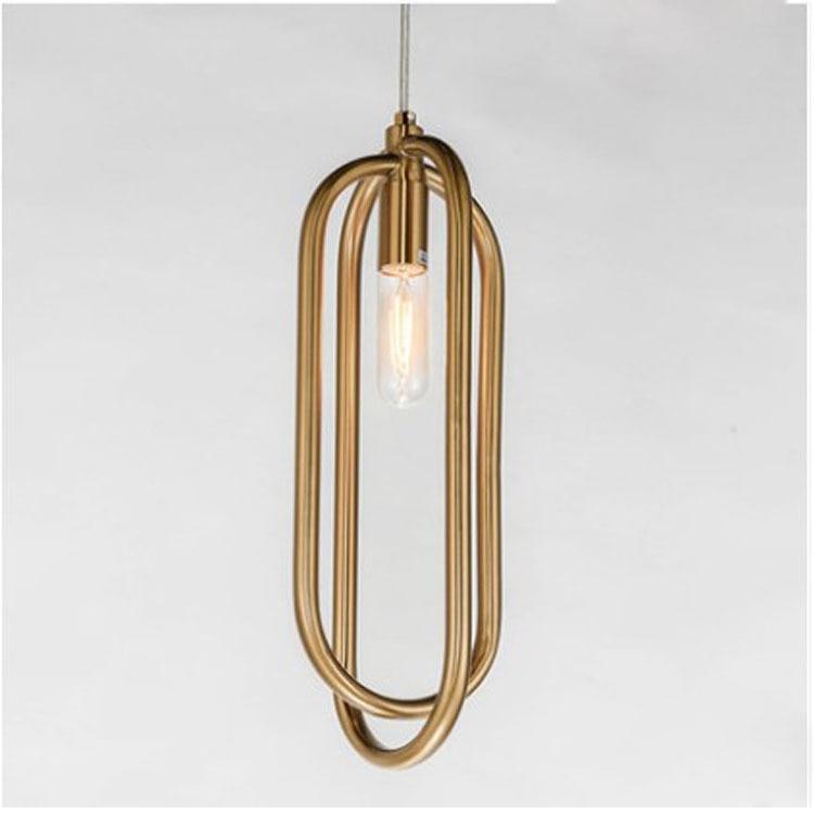 Modern E27 bulb creative circular single head LED atmospheric living room pendant light bedroom restaurant lamps