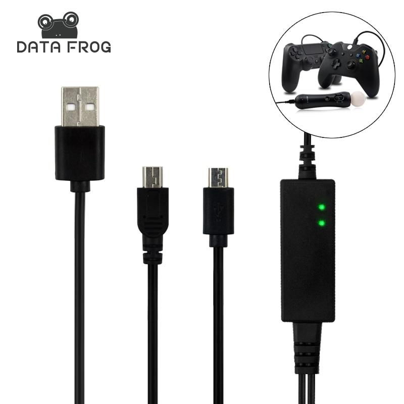 2 dans 1 Salut-Vitesse USB Alimentation De Recharge usb Pour PS4/PS VR PlayStation 4 Wireless Controller Console 3.5 M Pour XBOX Un Gamepad