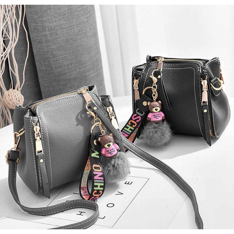 9e2c125b8890 ... Новая сумка через плечо сумка-мешок сумка-мессенджер простая и стильная  Классическая дикая маленькая ...