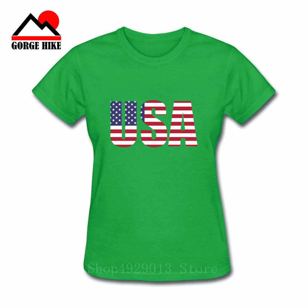 Frauen T-Shirts USA Flagge Sterne Gedruckt Gestreiften Gedruckt Tops Oansatz Kurzarm 2019 Sommer Casual Weichem T-shirt Weibliche Tees Mädchen