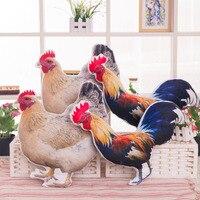 1Pc Cute Baby Plush Toy Simulation Chicken Cock Hen Handmade Pillow 50CM 2017 Zodiac Chicken Plush