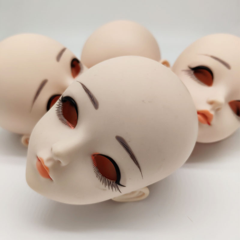 Doll Accessories <font><b>BJD</b></font> Doll Head 24CM DIY Doll Head Without <font><b>Eyes</b></font> image