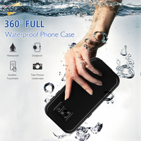 KISSCASE For Samsung Galaxy S7 Case Ultra Thin Waterproof Shockproof Underwater Dustproof Plastic TPU Armor Cover