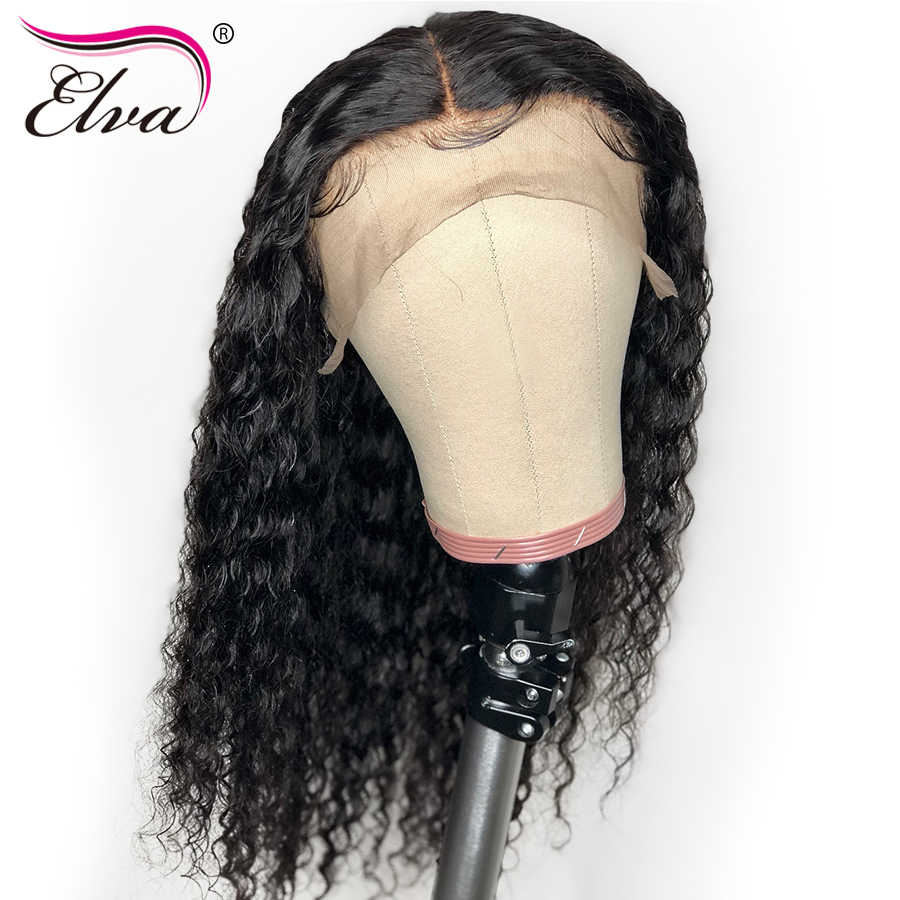 """Full Lace Human Hair Wigs For Black Women Pre Plucked Brazilian Fulll Lace Wigs With Baby Hair Curly Remy Hair Wig Elva 10""""-24"""""""