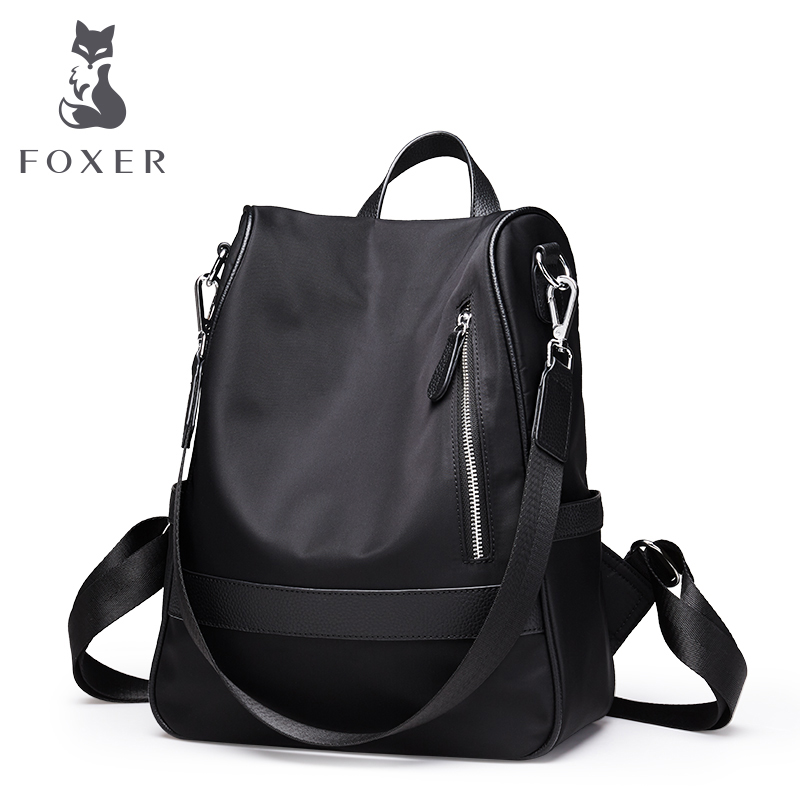 FOXER Women Backpack Lady Shoulder Bag Multifunction Tote Bags High Quality Travel Bag Large Capacity Bag Valentine's Day gift fn01 multifunction canvas shoulder bag handbag backpack for women khaki