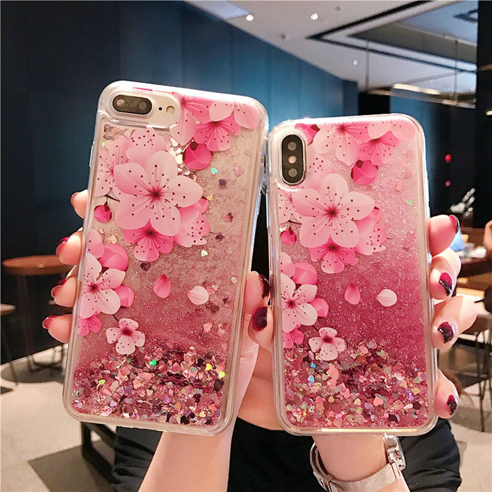 Luxury Liquid Glitter Case For Samsung Galaxy J7 2017 J730 Case Eurasian Version Pink Sequin Dynamic Perfume Bottle Flower Cover plan