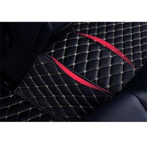 Image 4 - Кожаный Автомобильный Коврик для вспышки, напольные коврики для Volkswagen vw passat B3 B4 B5 B6 B7 B8 2000 2018, индивидуальные подставки для ног, чехол для телефона