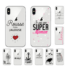 Cute French Portuguese love text Cover For Apple iPhone 7 8 Plus 6 6s Plus X XR XS MAX 5 5S SE Phone Case Soft TPU Coque(China)
