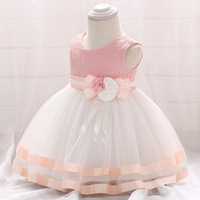 2018 new European and American new baby dresses baby birthday party wedding dress Princess Peng dresses lace flower dress girls