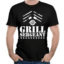 Cool Tee Shirts MenS Short Sleeve Grill Sergeant Broadcloth Crew Neck T Shirt
