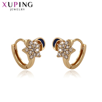 11.11 Xuping Jewelry Simplicity Style Star and Moon Shaped Trendy Design Earrings for Women Must have Charms Gift S136.6 9326513