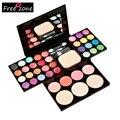 Professional Makeup Palette Set 24 Eyeshadow + 8 + 4 Batom + 3 blush Em Pó Fundação + Sopro Compõem Conjunto De Ferramentas